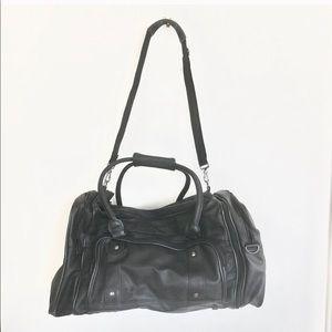 Vintage Leatherette Crossbody Duffle Travel Bag